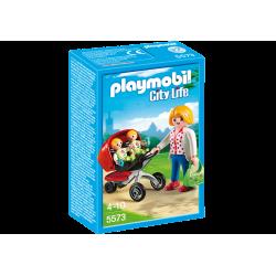 Playmobile Maman avec jumeaux et landau