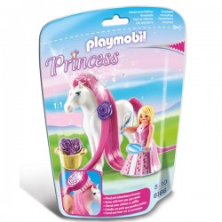 Playmobil Princesse rose avec cheval